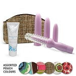 Discreet Dilator Kit Set w/ Non-Paraben Gel - Original Dr. Laura Berman 4 Sizes & Sleeve Dilator Set + 4 Oz Non-Paraben Slippery Stuff Extra Gentle® in a Discreet Accessory Bag