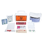 Biohazard Clean-Up Spill Kit, Premium with Plastic Case